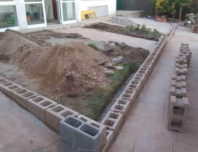 Nivelación de la terraza