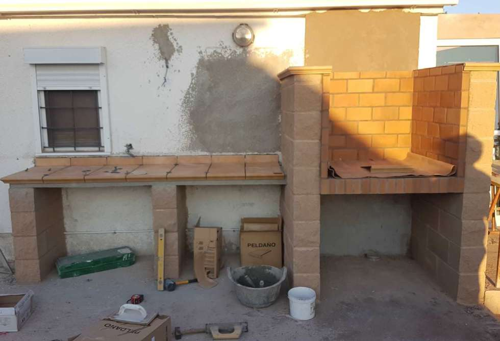 Construcción barbacoa