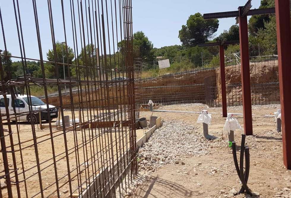 Vista estructura cimientos