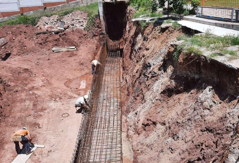 Montaje de hierro cimientos